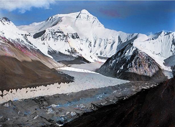 Colorized 1921 Everest/Rongbuk Photo