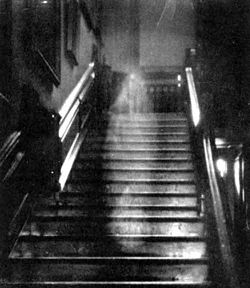 The Brown Lady of Braynham Hall - Ghostly Image on stairs